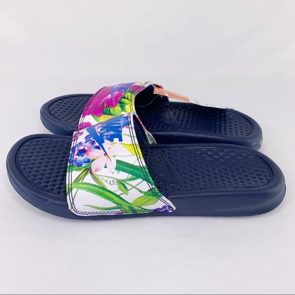 Nike Mens Benassi Sliders Slides Pool Sandals Flip Flops NAVY SIZE 10